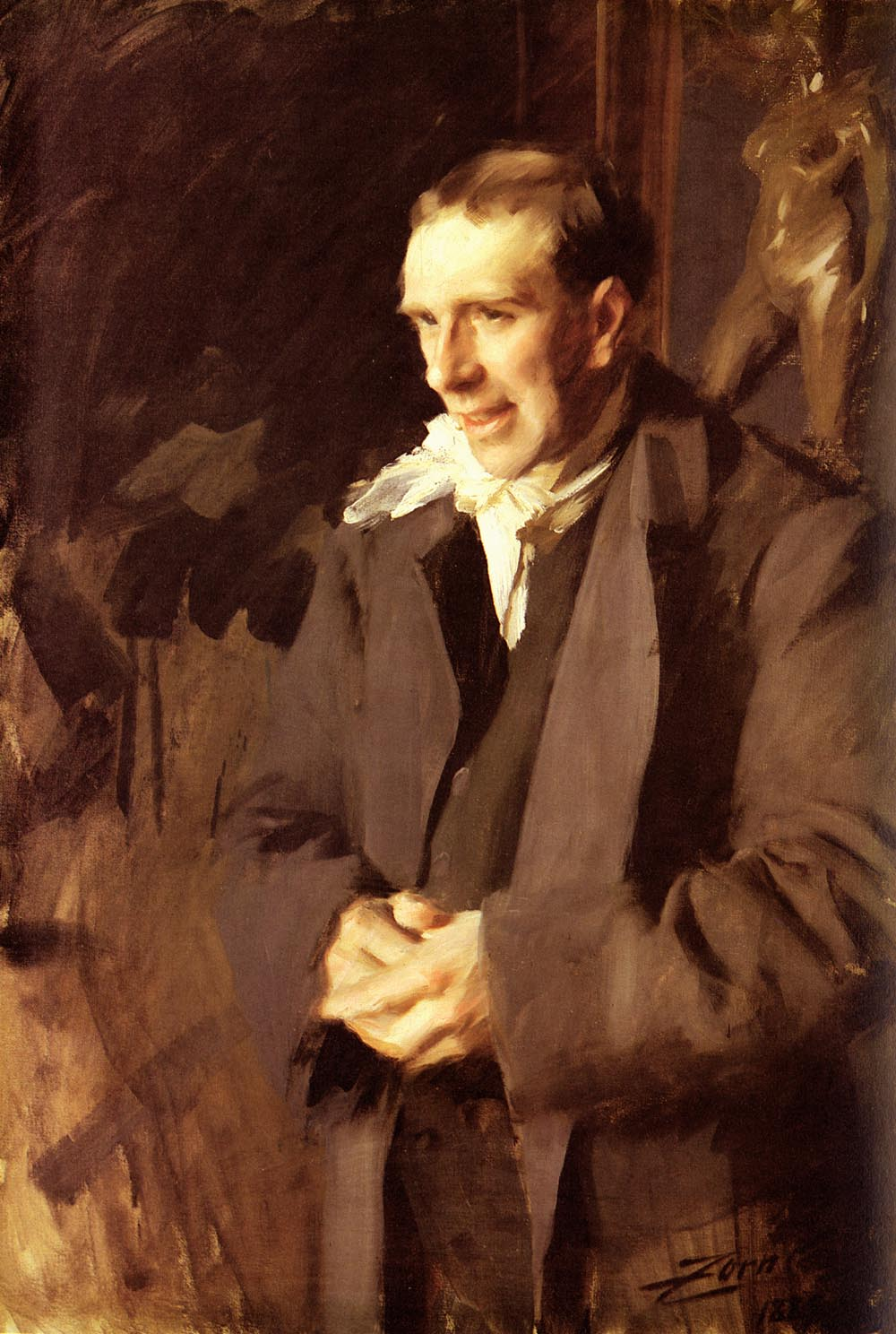 Coquelin Cadet :: Anders Zorn - men's portraits 19th century (second half) ôîòî