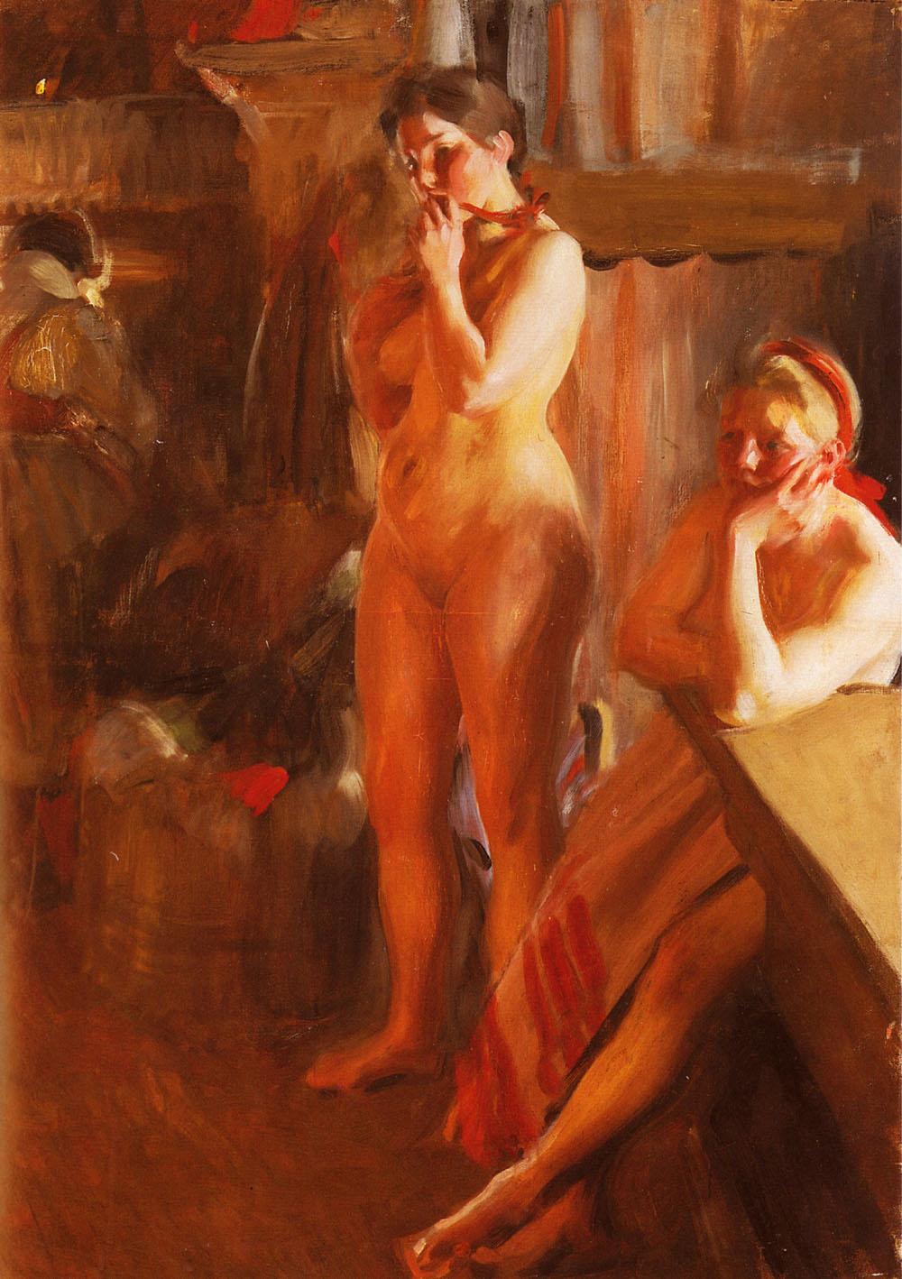 Eldsken :: Anders Zorn  - Nu in art and painting ôîòî