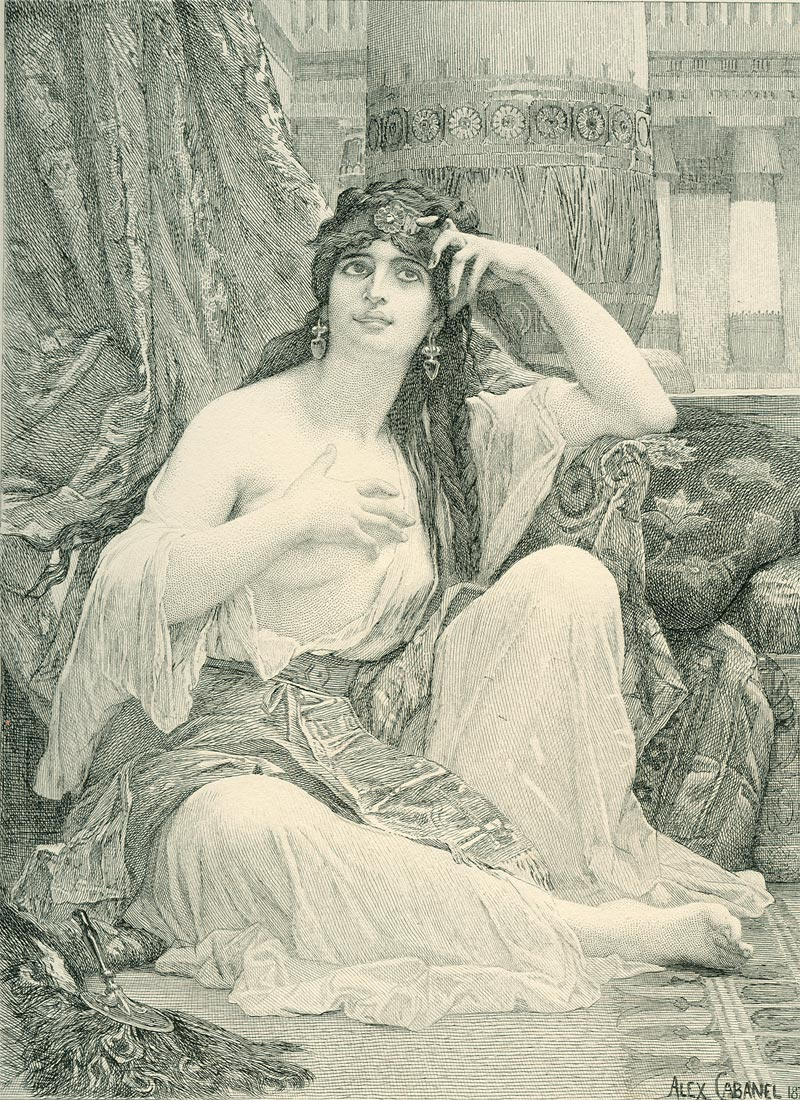 The Sulamite Engraving :: Alexandre Cabanel  - Arab women (Harem Life scenes) in art  and painting ôîòî