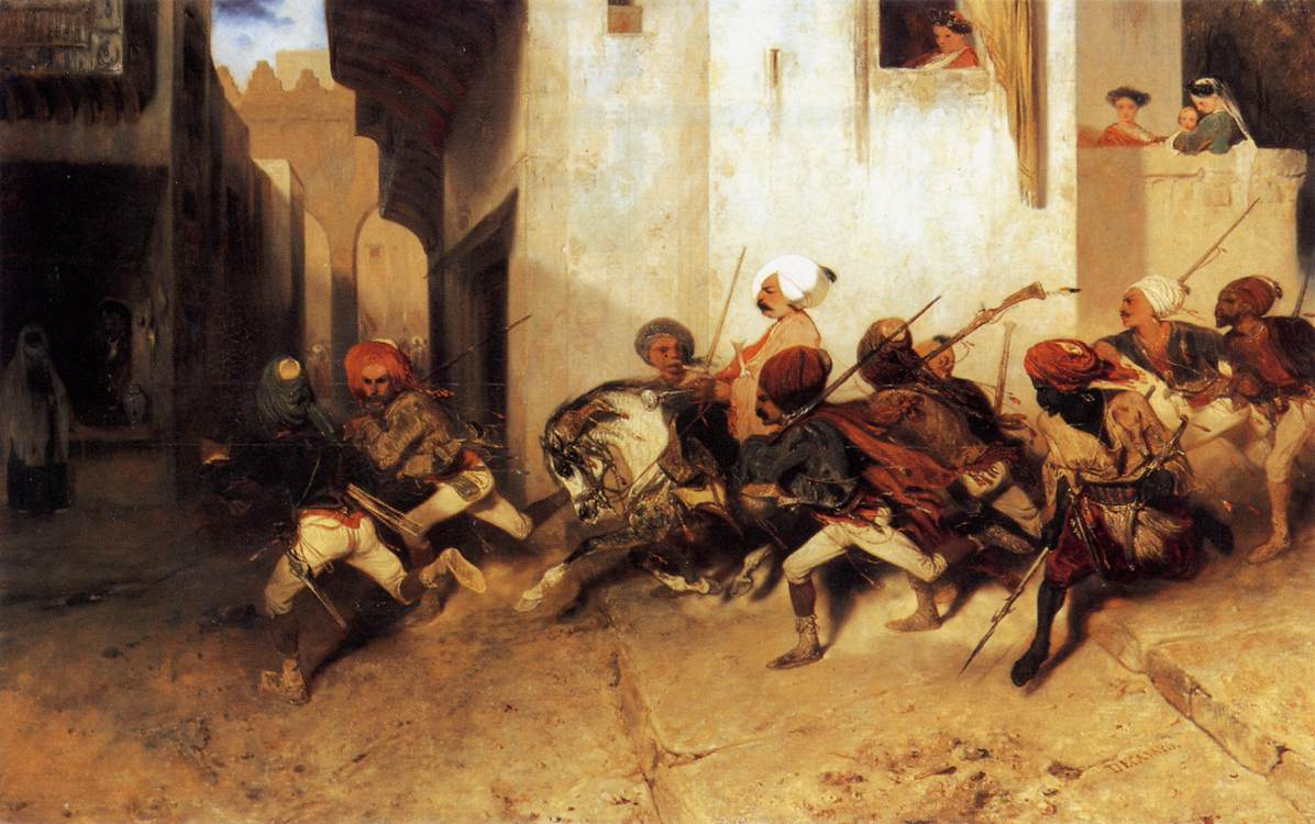The Turkish Patrol :: Alexandre-Gabriel Decamps - scenes of Oriental life (Orientalism) in art and painting ôîòî