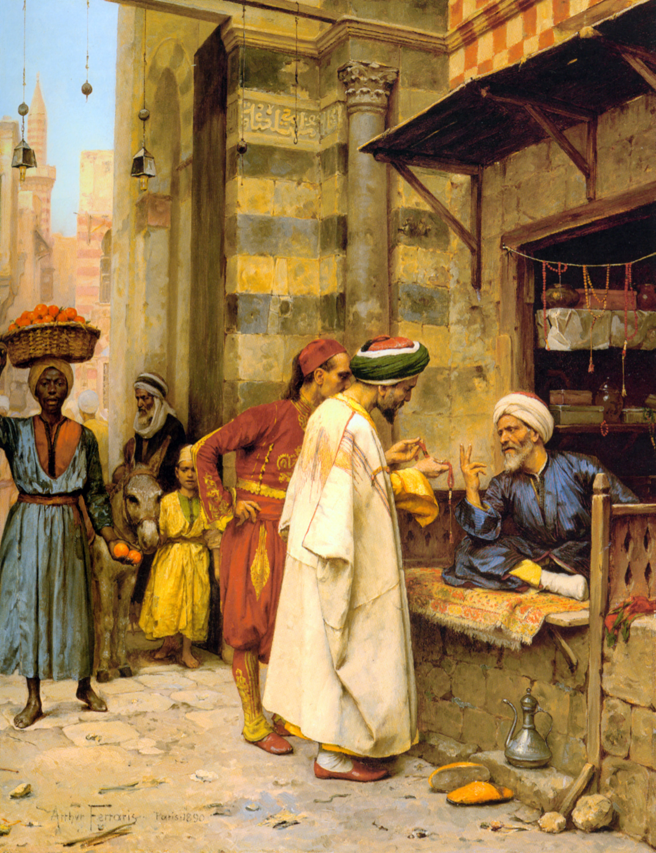 Driving a Bargain :: Arthur von Ferraris - scenes of Oriental life (Orientalism) in art and painting ôîòî