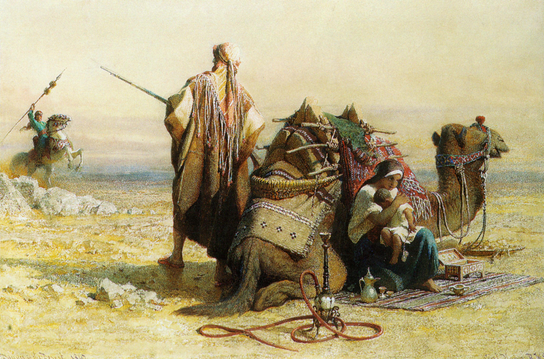 Danger in the Desert :: Carl Haag - scenes of Oriental life (Orientalism) in art and painting ôîòî