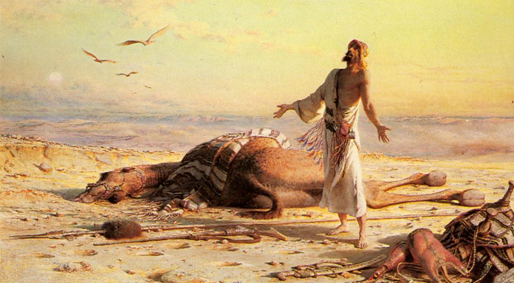 Shipwreck in the Desert :: Carl Haag - scenes of Oriental life (Orientalism) in art and painting ôîòî