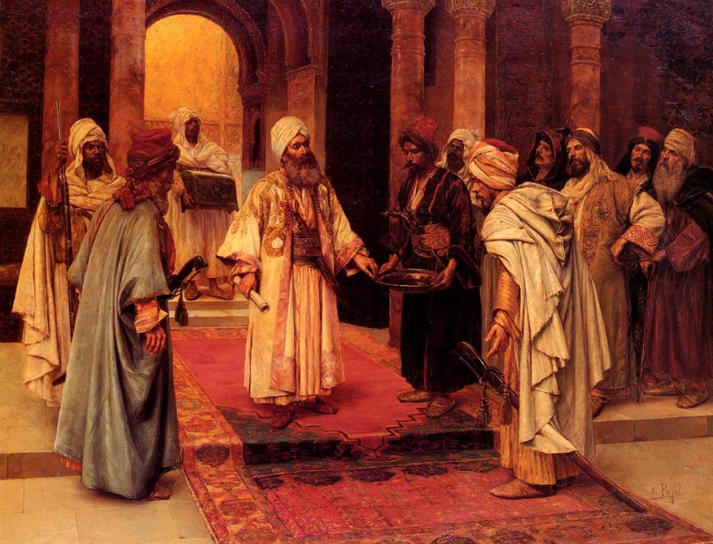 The Honored Guest :: Clement Pujol de Guastavino - scenes of Oriental life (Orientalism) in art and painting ôîòî