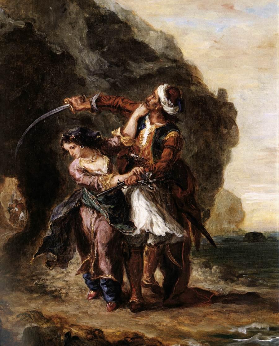 The Bride of Abydos :: Eugиne Delacroix - scenes of Oriental life (Orientalism) in art and painting ôîòî