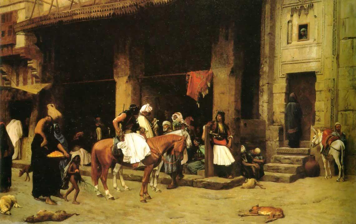A Street Scene in Cairo :: Jean-Leon Gerome - scenes of Oriental life (Orientalism) in art and painting ôîòî