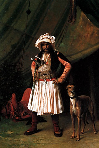 Bashi-Bazouk and his Dog :: Jean-Leon Gerome - scenes of Oriental life (Orientalism) in art and painting ôîòî
