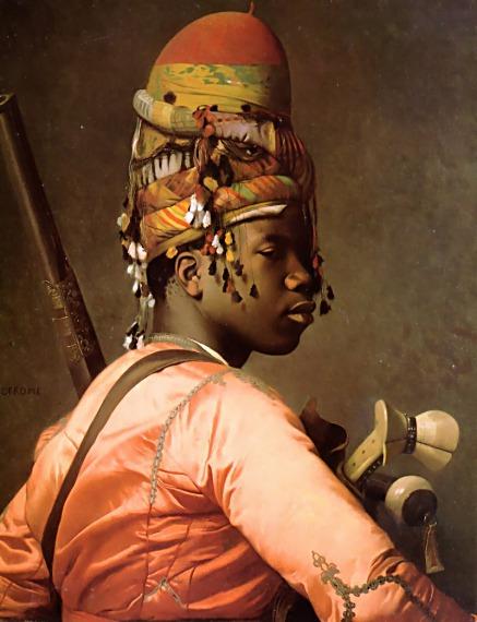 Black Bashi-Bazouk :: Jean-Leon Gerome  - scenes of Oriental life (Orientalism) in art and painting ôîòî