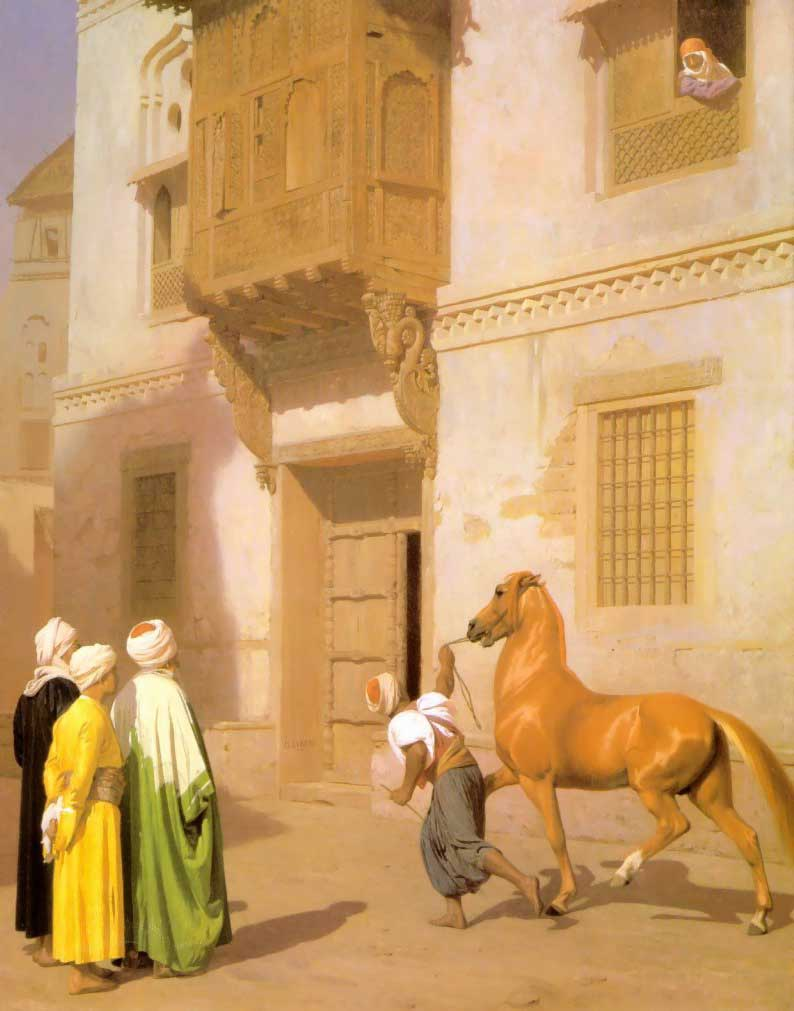 Cairene Horse Dealer :: Jean-Leon Gerome - scenes of Oriental life (Orientalism) in art and painting ôîòî