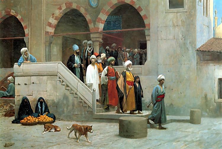 Leaving the Mosque :: Jean-Leon Gerome - scenes of Oriental life (Orientalism) in art and painting ôîòî
