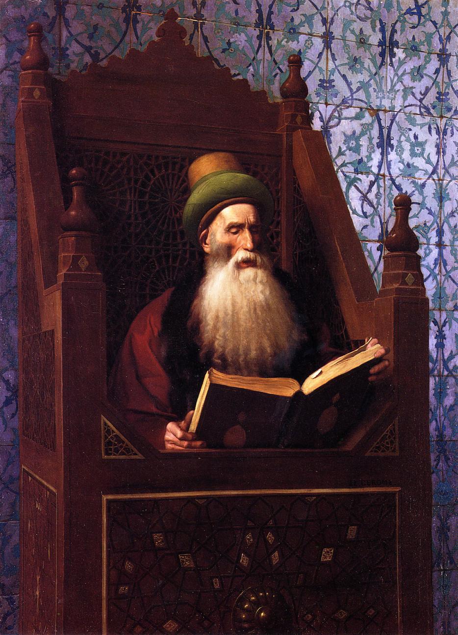 Mufti Reading in His Prayer Stool :: Jean-Leon Gerome - scenes of Oriental life (Orientalism) in art and painting ôîòî