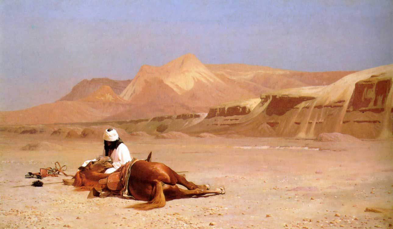 The Arab and his Steed :: Jean-Leon Gerome - scenes of Oriental life (Orientalism) in art and painting ôîòî