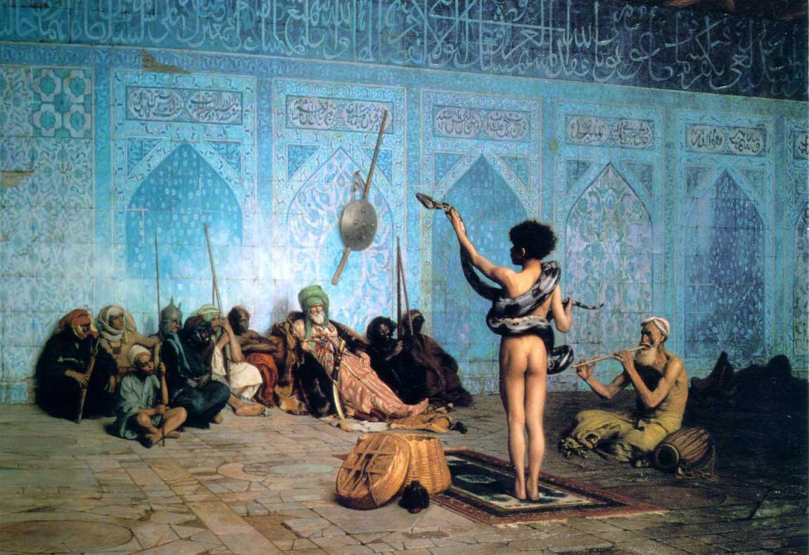 The Serpent Charmer :: Jean-Leon Gerome - scenes of Oriental life (Orientalism) in art and painting ôîòî