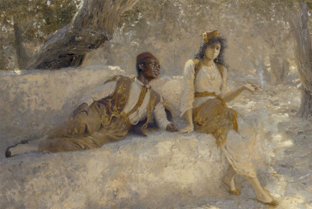 On Canvas :: Adolf Von Meckel - scenes of Oriental life (Orientalism) in art and painting ôîòî