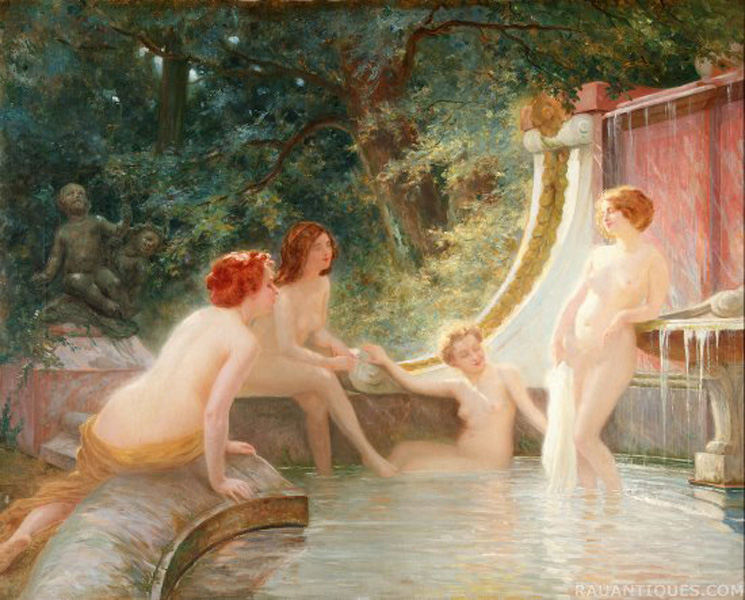 Bathers in a Fountain :: Albert-Auguste Fourie - Nu in art and painting ôîòî