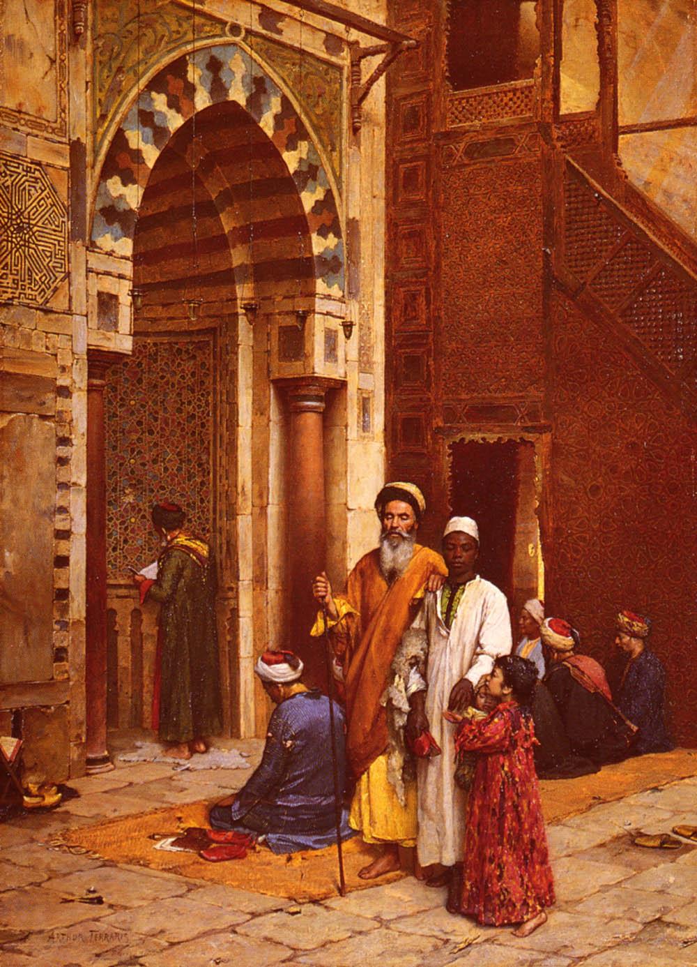 Blindness to the Mosque :: Arthur von Ferraris - scenes of Oriental life (Orientalism) in art and painting ôîòî