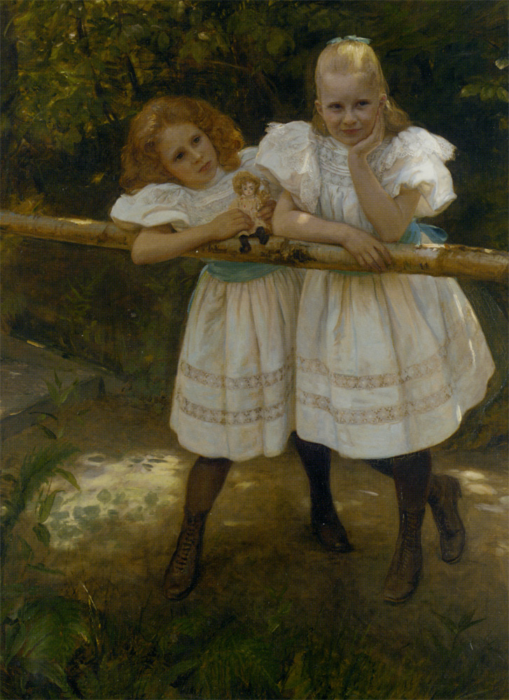 Faraway Thoughts :: August Andreas Jerndorff - Children's portrait in art and painting ôîòî