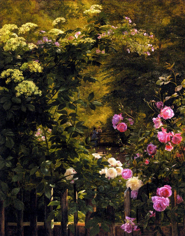 The Rose Garden :: Carl Fredrik Aagard - Summer landscapes and gardens ôîòî