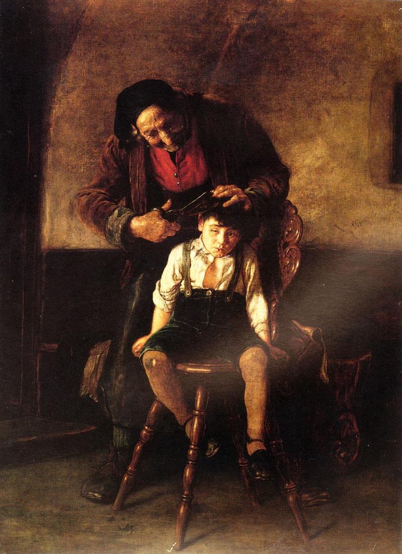 The Barber :: Nicholas Gysis - Children's portrait in art and painting ôîòî