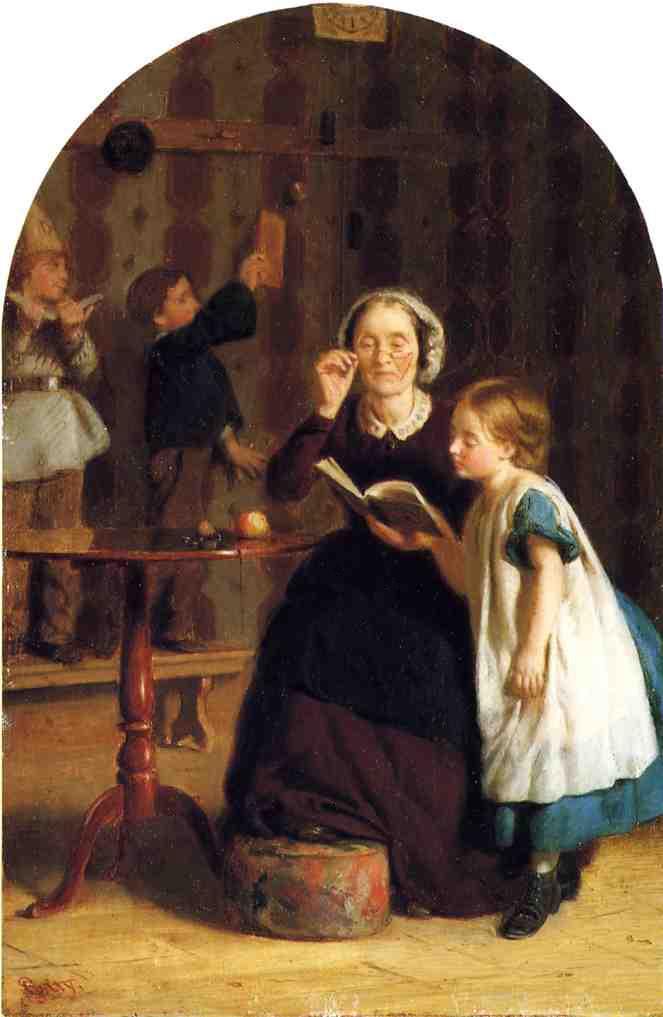 The Reading Lesson :: Seymour Joseph Guy  - Children's portrait in art and painting ôîòî