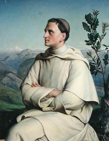 Henri Lacordaire at Sorreze :: Anne-Francois-Louis Janmot - men's portraits 19th century (first half) ôîòî