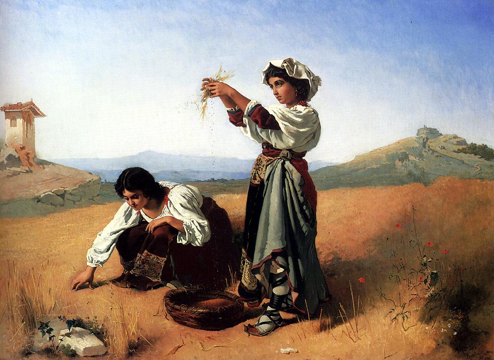 The Gleaners :: Anton Romako  - Village life ôîòî