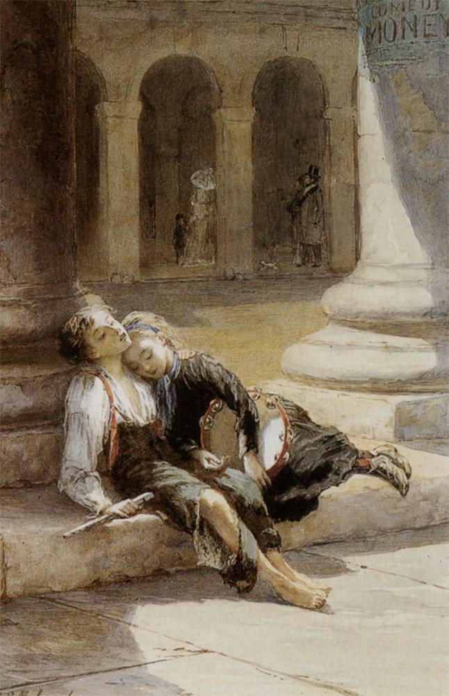 Tired Minstrels :: Augustus Edwin Mulready - Children's portrait in art and painting ôîòî