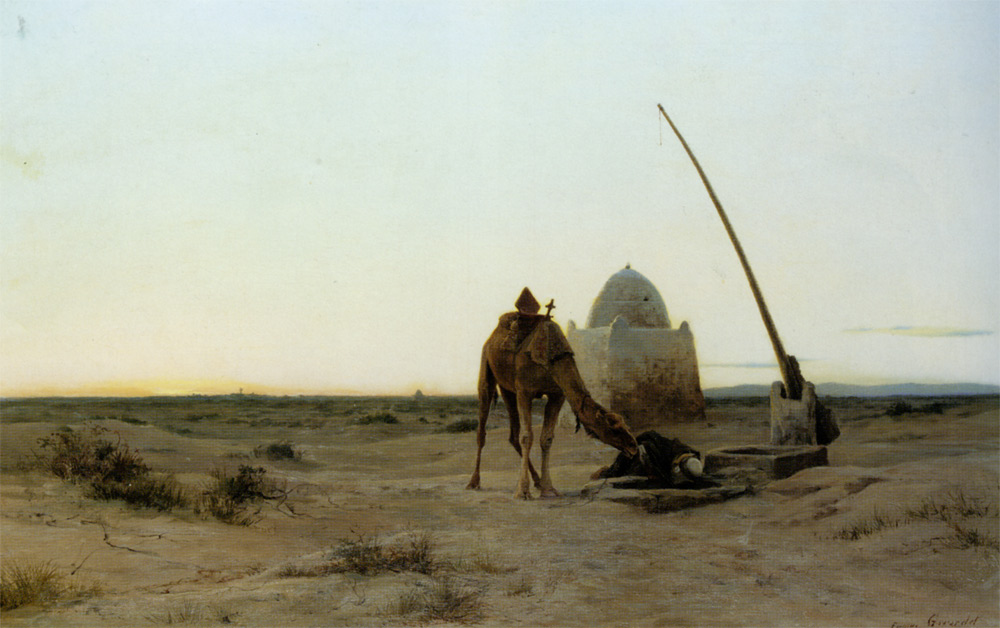 About a well :: Eugene-Alexis Girardet - scenes of Oriental life (Orientalism) in art and painting ôîòî