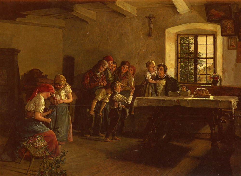 The Center of Attention :: Ferdinand Georg Waldmuller - Children's portrait in art and painting ôîòî
