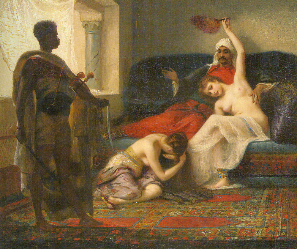 The Deposed Favourite :: Fernand-Anne Piestre Cormon - Arab women (Harem Life scenes) in art  and painting ôîòî