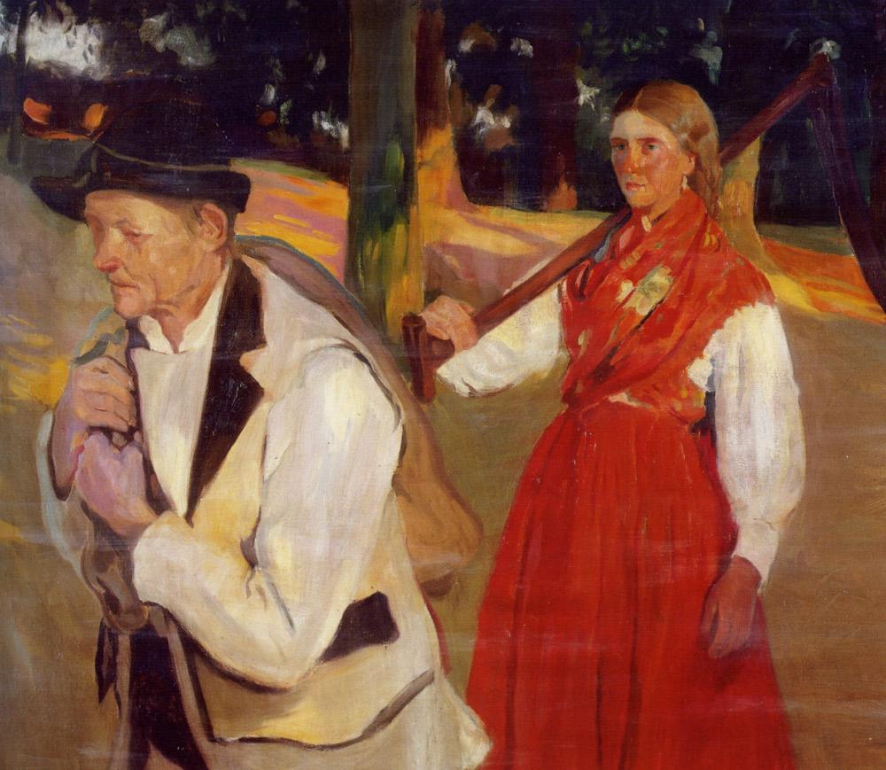 A Return from the Fields :: Fernando Sotomayor y Zaragoza - Village life ôîòî