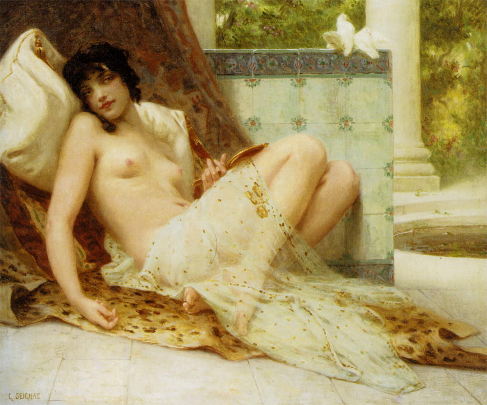 The Odalisque and colombes :: Guillaume Seignac - Nu in art and painting ôîòî