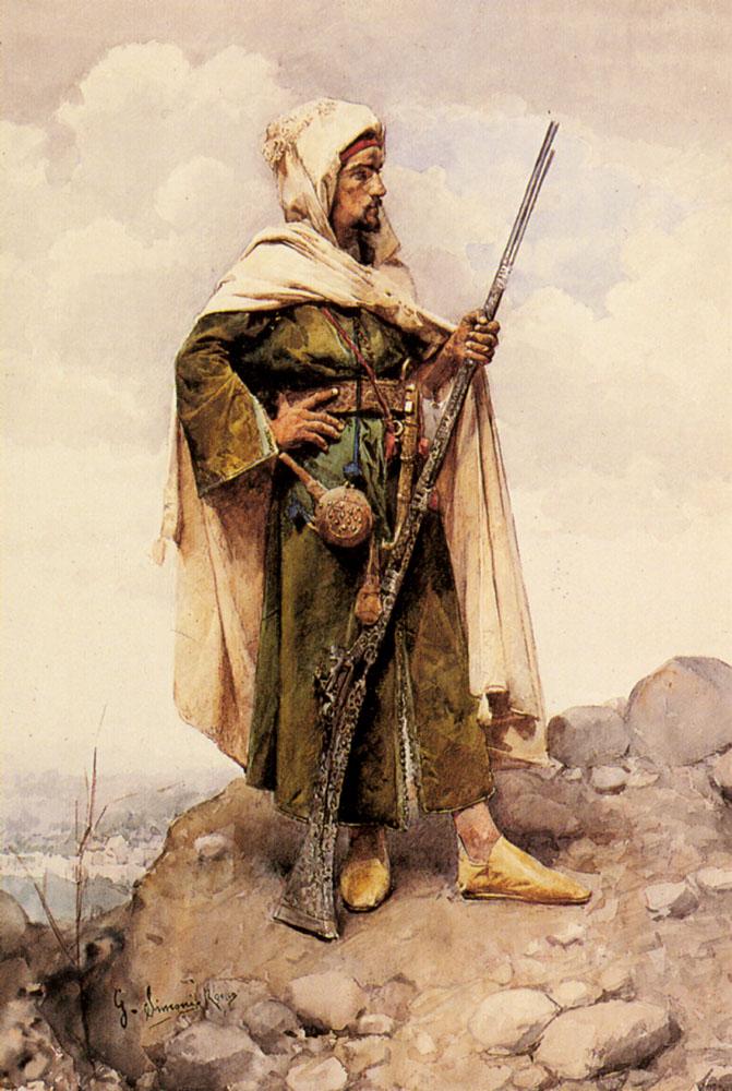 An Arab Soldier :: An Arab Soldier - scenes of Oriental life (Orientalism) in art and painting ôîòî