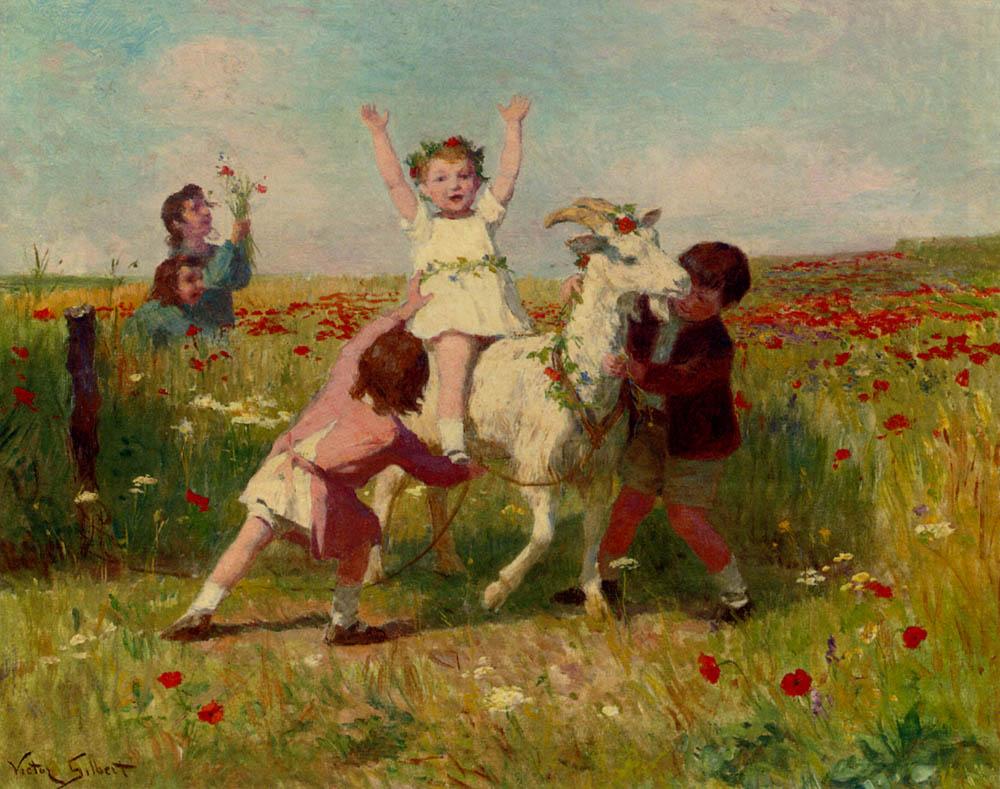 New Tricks :: Victor Gabriel Gilbert - Children's portrait in art and painting ôîòî