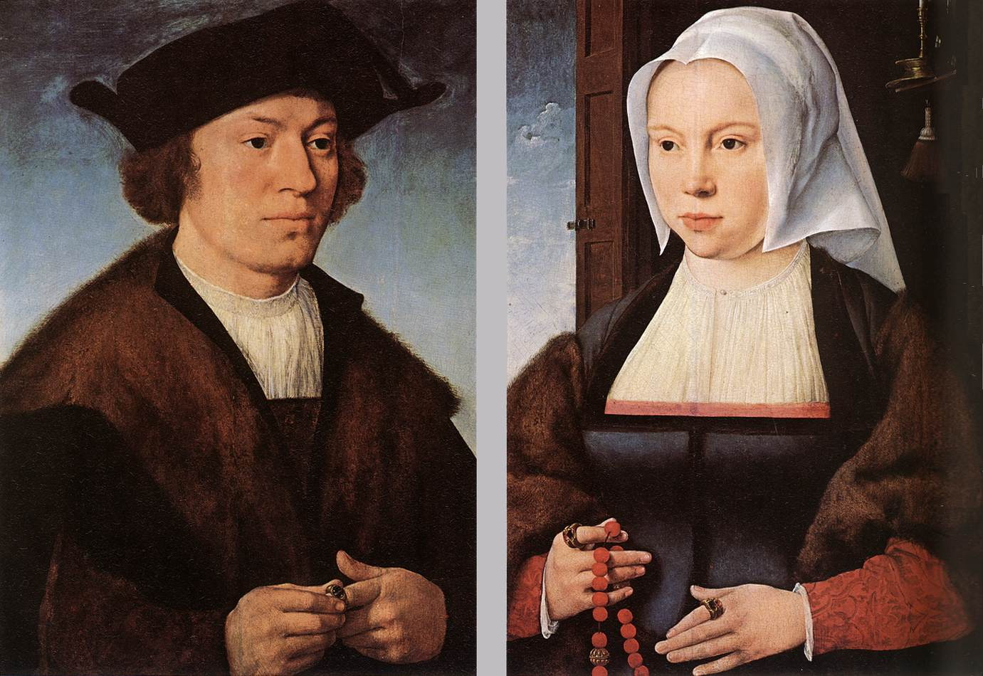 Portrait of a Man and Woman :: Joos van Cleve - man and woman ôîòî