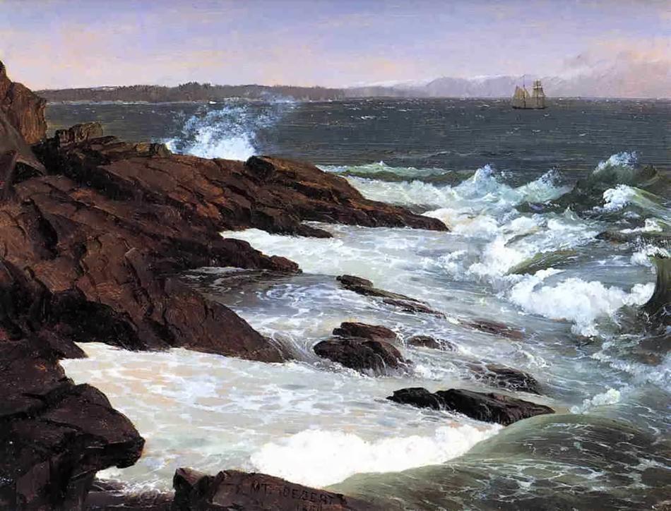 Fog off Mount Desert :: Frederic Edwin Church  - Seascapes ôîòî