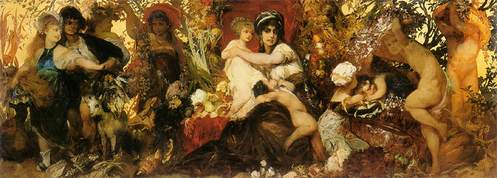Abundantia - The Gifts of the Earth :: Hans Makart - Allegory in art and painting ôîòî