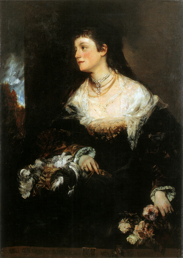 Adele - countess Waldstein-Wartenberg :: Hans Makart - 6 woman's portraits hall ( The middle of 19 centuries ) in art and painting ôîòî