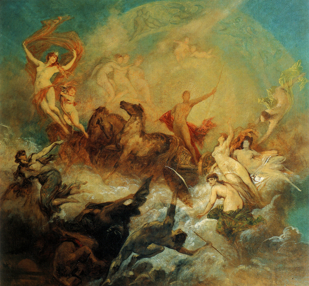 The victory of light  :: Hans Makart - Allegory in art and painting ôîòî