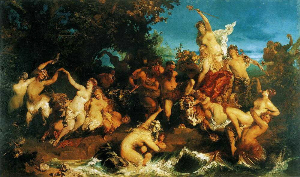 The Triumph of Ariadne :: Hans Makart - mythology and poetry ôîòî