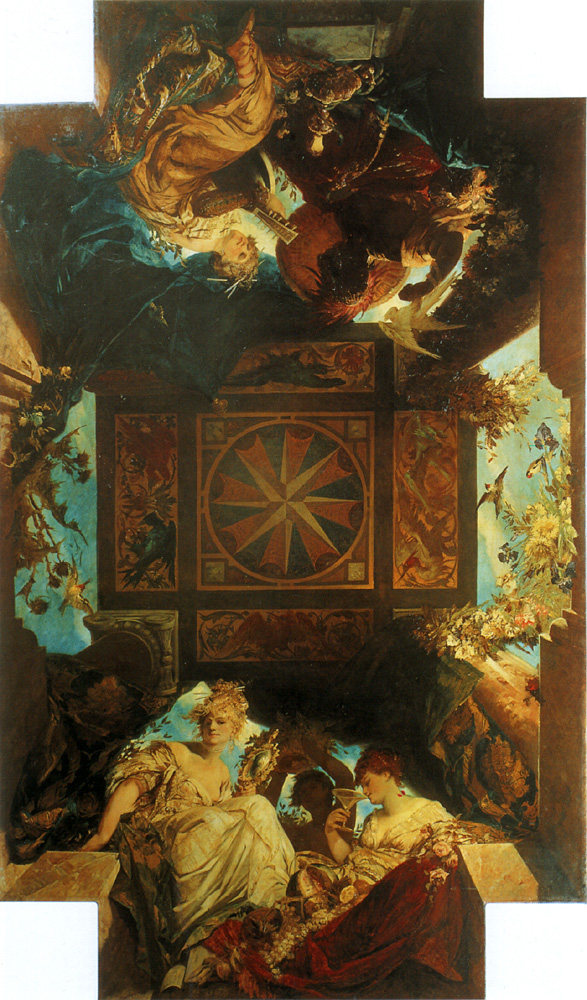 The four parts of the world :: Hans Makart - Allegory in art and painting ôîòî