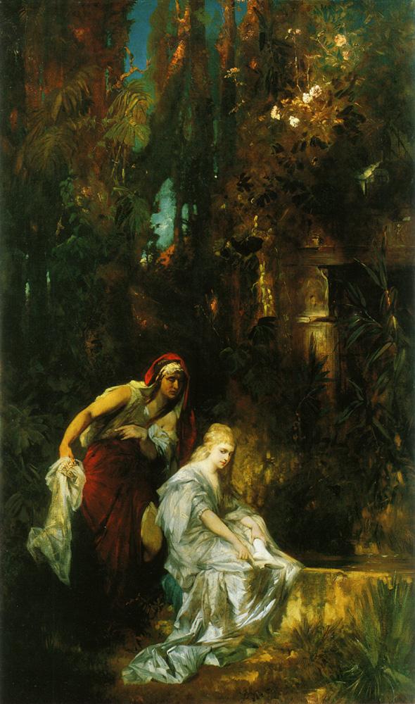 Snow White the poisoned comb  :: Hans Makart - mythology and poetry ôîòî