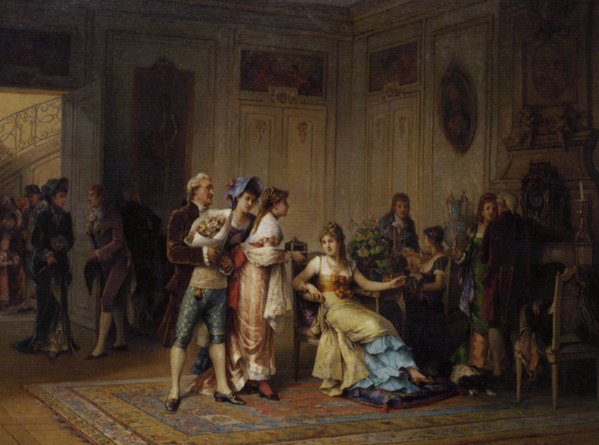 A Gift for the Chatelaine :: Adrien de Boucherville - Romantic scenes in art and painting ôîòî