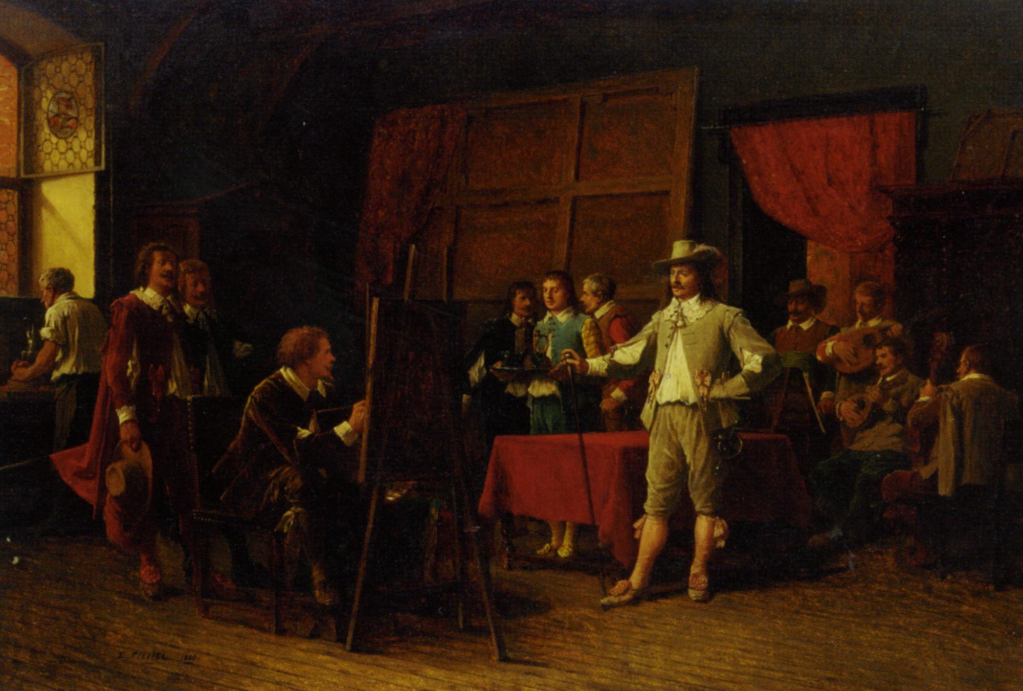 Posing for the Portrait :: Benjamin Eugene Fichel - Interiors in art and painting ôîòî