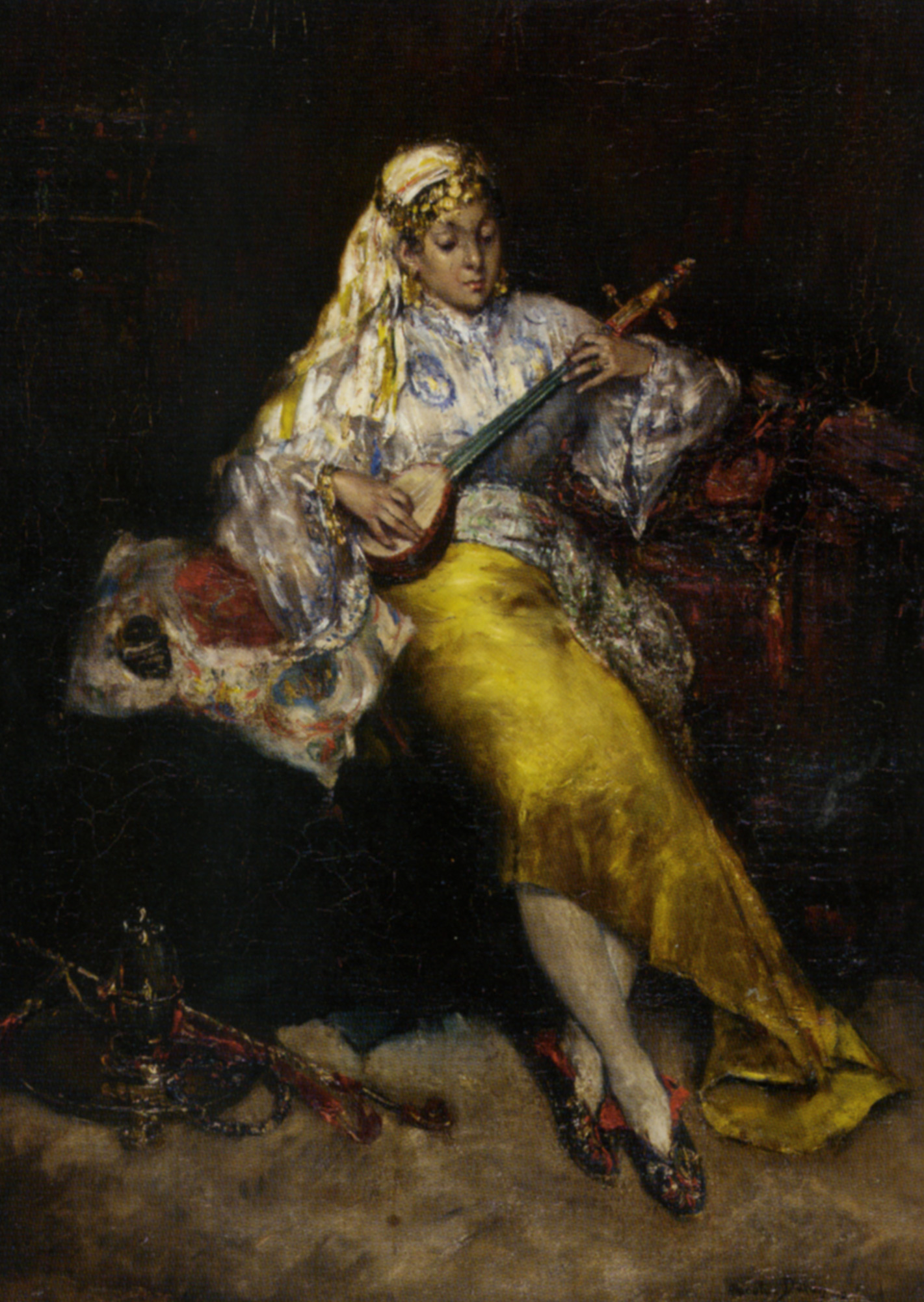 The Entertainer :: Charles Auguste Emile Durand - Arab women (Harem Life scenes) in art  and painting ôîòî