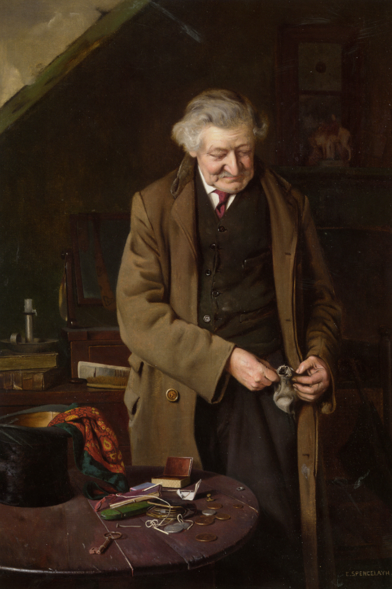 The Cause of All The Trouble :: Charles Spencelayh - Portraits of elderly men ôîòî