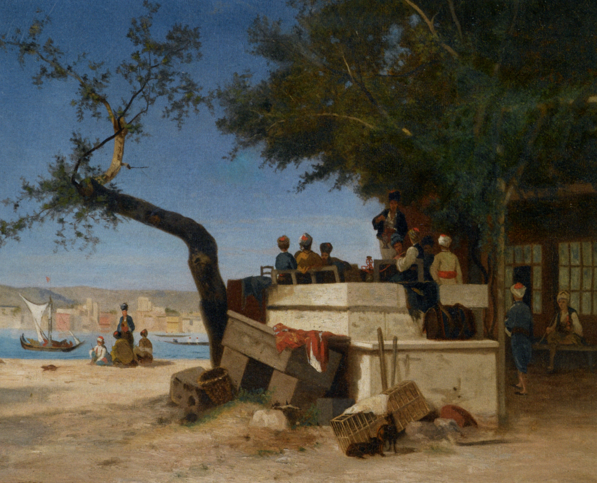 An Eastern Cafe :: Charles Theodore Frere - scenes of Oriental life (Orientalism) in art and painting ôîòî