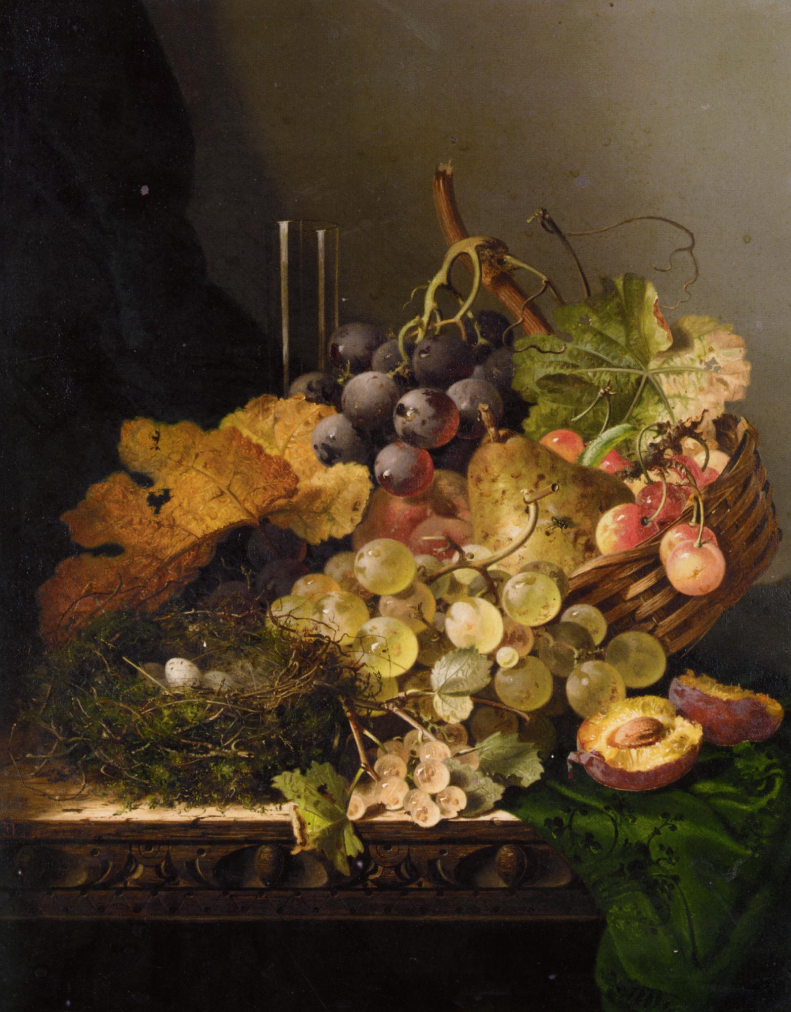 Still Life with Birds Nest :: Edward Ladell - Still-lives with fruit ôîòî