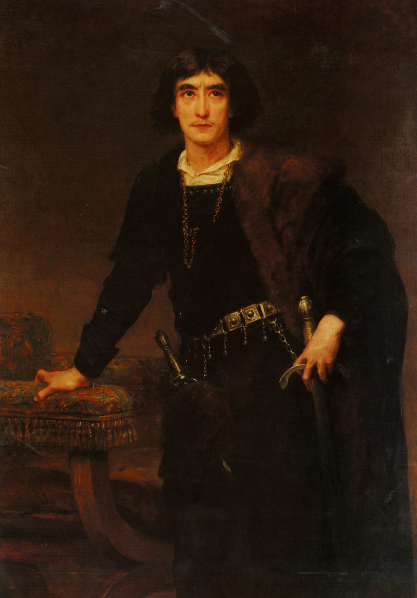 Henry Irving as Hamlet :: Edwin Longsden Long - men's portraits 19th century (first half) ôîòî
