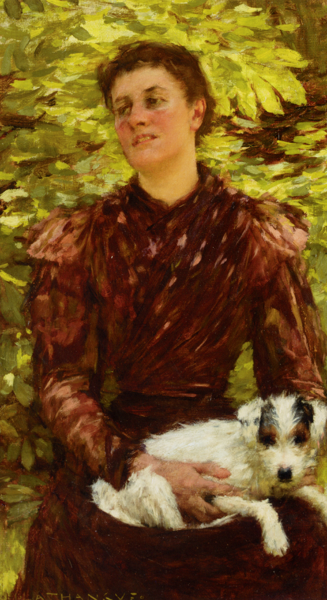The Puppy :: Henry Herbert La Thangue - 8 female portraits hall ôîòî